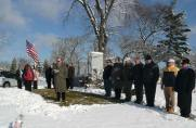 Members of the Royal Airs Drum and Bugle Corps gather at Queen of Heaven Cemetery on December 5, 2010 for their annual memorial to the victims of the OLA fire. Three of their members were among the victims: color guard captain Frances Guzaldo; bugler Roger Ramlow; and flag-bearer Valerie Thoma. (Photo courtesy of Serge Uccetta)