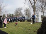 On December 2, 2012, members of the Royal Airs held a memorial for the victims of the OLA fire at the gravesite of 27 of the victims at Queen of Heaven Cemetery in Hillside, IL. (Photo Courtesy of Burt Convey)
