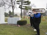 The Royal Airs Drum and Bugle Corps memorial at Queen of Heaven Cemetery, December 2, 2012. (Photo Courtesy of Burt Convey)