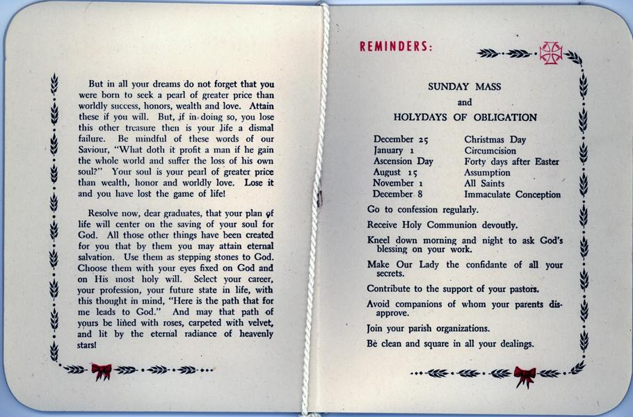 OLA Graduation Booklet from 1944, pages 5-6 (Courtesy of Frank Mason)